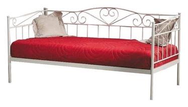 Кровать Signal Meble Birma White, 208x96 см, с решеткой