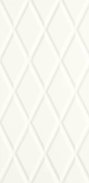 Paradyz Ceramika Moonlight Wall Tile 29.5x59.5cm White Structure B