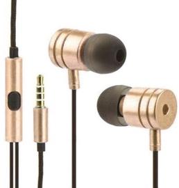 Austiņas Mocco Metal Style In-Ear Gold