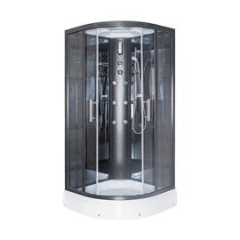 Dušas kabīne Erlit ER5709P-C24, masāžas, pusapaļā, 900x900x2150 mm