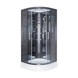 Dušas kabīne Erlit ER5709P-C24, pusapaļā, 900x900x2150 mm