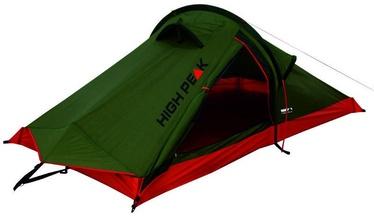 2-местная палатка High Peak Siskin 2 10183, красный/зеленый