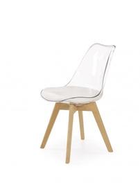 Ēdamistabas krēsls Halmar K246 Beech/Transparent
