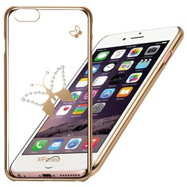 X-Fitted Classic Butterfly Swarovski Crystals Back Case For Apple iPhone 6/6s Gold