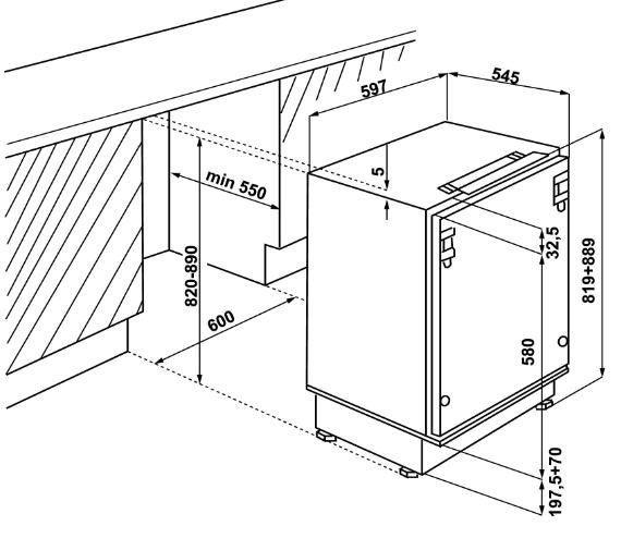 Iebūvējams ledusskapis Whirlpool ARG 590