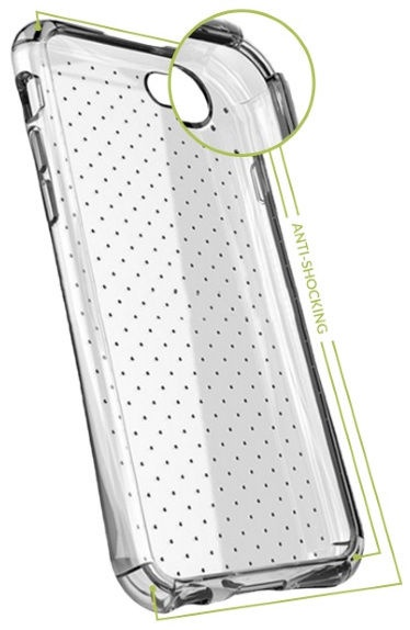 GreenGo Dotted Silicone Back Case For Samsung Galaxy S4 Transparent