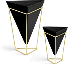 Umbra Trigg Vessel Set Black/Brass 2pcs