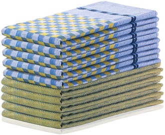 Virtuves dvielis DecoKing Louie, zila/dzeltena, 50x70 cm, 10 gab.