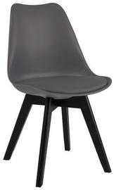 Ēdamistabas krēsls Signal Meble Kris II Grey/Black, 1 gab.