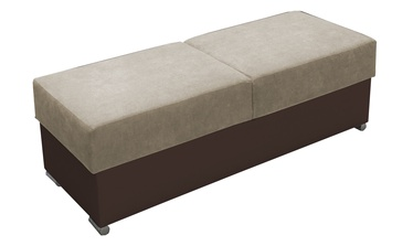 Pufs Idzczak Meble Grand Beige/Brown, 140x53x45 cm