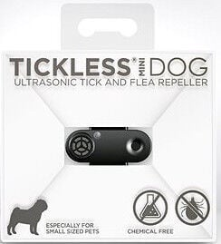 Tickless Mini Dog Ultrasonic Tick & Flea Repeller Black