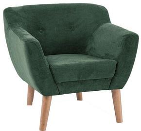 Atzveltnes krēsls Signal Meble Bergen 1 Green, 78x54x76 cm