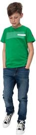 Audimas Junior Cotton Printed Tee Jolly Green 140