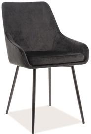 Ēdamistabas krēsls Signal Meble Albi Velvet Black