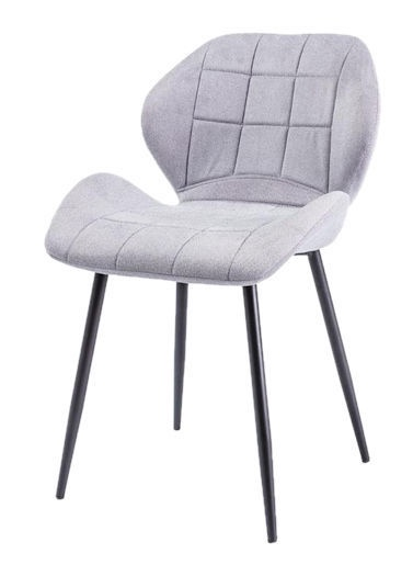 Ēdamistabas krēsls Signal Meble Hals Black/Light Gray, 1 gab.