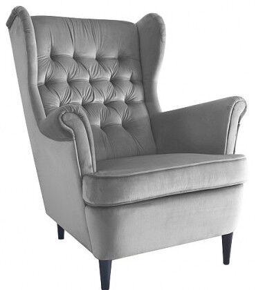 Atzveltnes krēsls Signal Meble Scandinavian Harry, pelēka, 68x90x100 cm