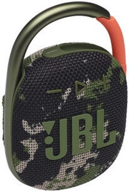 Bezvadu skaļrunis JBL Clip 4, zaļa, 5 W