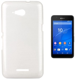 Forcell Jelly Brush Back Case For Sony E2003/E2053 Xperia E4g White