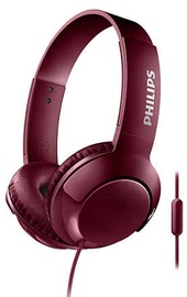 Austiņas Philips Bass+ SHL3075 Red