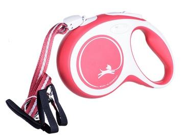 Поводок Flexi New Comfort, белый/красный, 8 м