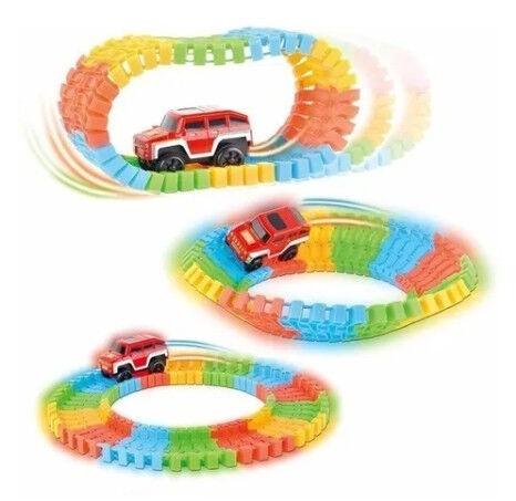 Игрушечный гоночная трэк со светящимся автомобилем (220 шт.)
