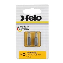 Felo Screwdriver Bit Set Torx10 25mm 2pcs