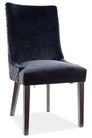 Ēdamistabas krēsls Signal Meble Modern Leon Velvet, melna