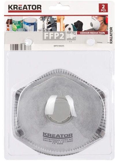 Respirators Kreator KRTS1002VC FFP2 with Valve 2pcs