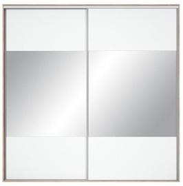 Black Red White Wardrobe Front Nadir 230-240 White w/ Mirror