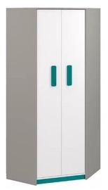 Skapis ML Meble Q 01 Turquoise, 82x82x199 cm