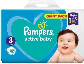 Autiņbiksītes Pampers Active Baby, 3, 90 gab.