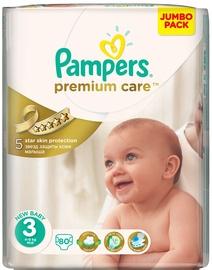Autiņbiksītes Pampers Premium Care, 3, 80 gab.