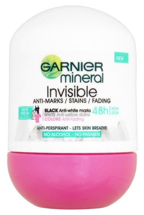 Garnier Mineral Invisible Black White Colors Deo Roll On 50ml