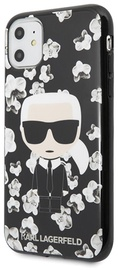 Karl Lagerfeld Flower Iconic Karl Back Case For Apple iPhone 11 Black