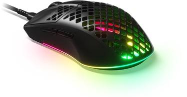 Spēļu pele Steelseries Aerox 3, melna, vadu, optiskā