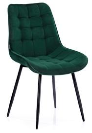 Ēdamistabas krēsls Homede Algate, zaļa, 4 gab.