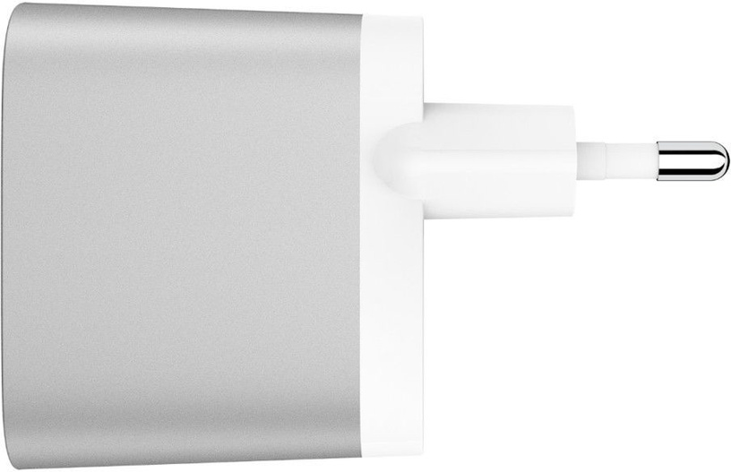 Belkin Dual USB Wall Charger With Apple Lightning Cable 1.2m Silver