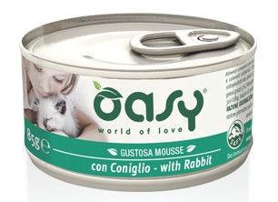 Oasy Adult Cat Wet Mousse w/ Rabbit 85g