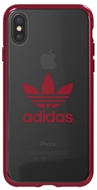 Adidas OR Clear Back Case For Apple iPhone X/XS Red