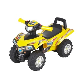 Самокат четырёхколёсный мотоцикл 551, жёлтый