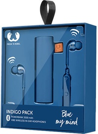 Austiņas Fresh 'n Rebel Vibe Wireless Rockbox Pebble Indigo, bezvadu