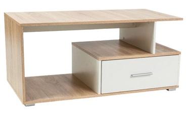 Kafijas galdiņš Signal Meble Sia Sonoma Oak/White, 1100x500x550 mm