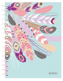 Herlitz Spiral Notepad A5/100p Feathers