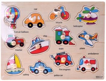 Wooden Puzzle With Vehicles
