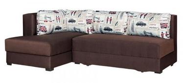 Угловой диван Bodzio Judyta Bronze, 225 x 155 x 77 см