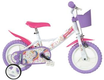 "Velosipēds Bimbo Bike 77328 12"" White Violet"