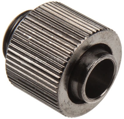 "Ohne Hersteller Adapter for 1/4"" Thread / 13/10mm tube Black Nickel 62141"