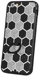 Mocco Ring Back Case For Samsung Galaxy S6 Black/Silver