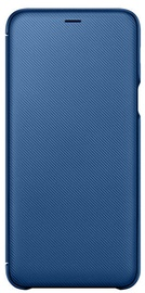 Samsung Wallet Case For Samsung Galaxy A6 Plus Blue