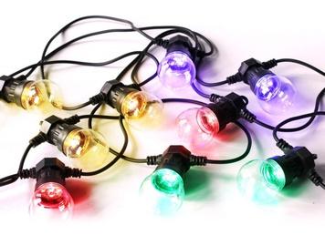 Platinet POLCT10Z LED Light Bulb Chain Black 5m